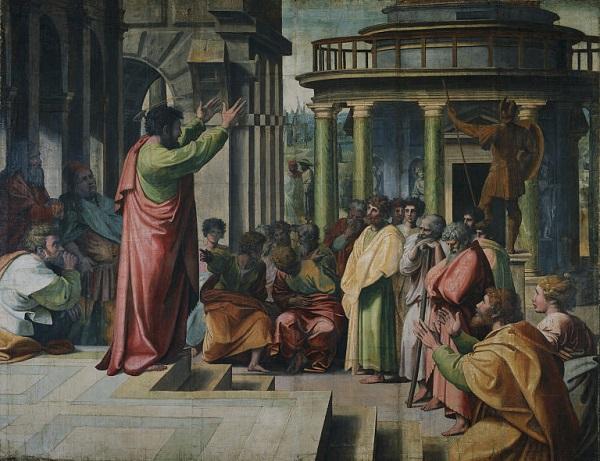 Rafaël-tapijten-Prediking-van-Paulus-karton