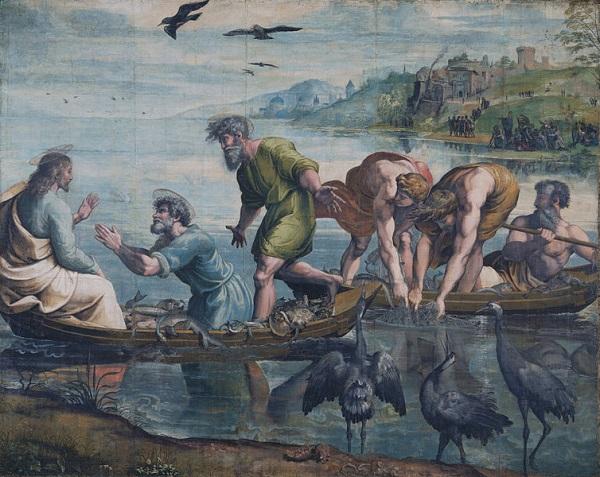 Rafaël-tapijten-Wonderbaarlijke-visvangst-karton