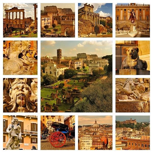 Rome-collage-gouden-licht-herfst