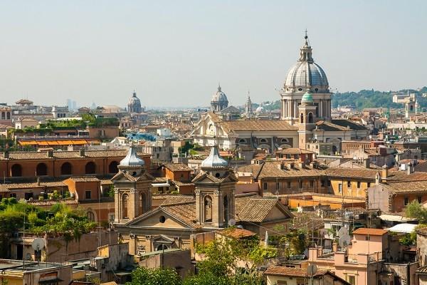 Rome-uitzicht-vanaf-Pincio-Borghese