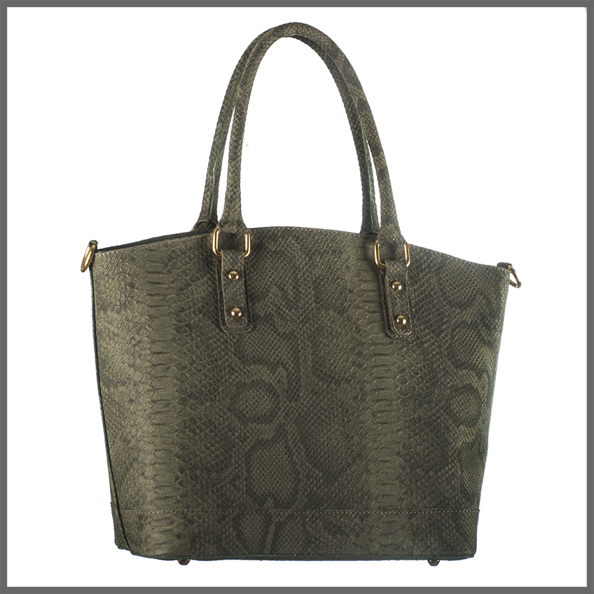Season-Bags-handtas-groen-slang