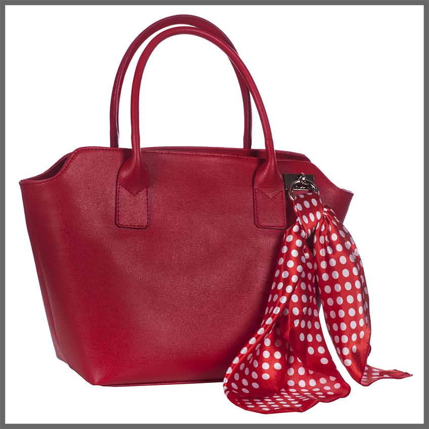 Season-Bags-tas-met-sjaaltje-voorkant-rood
