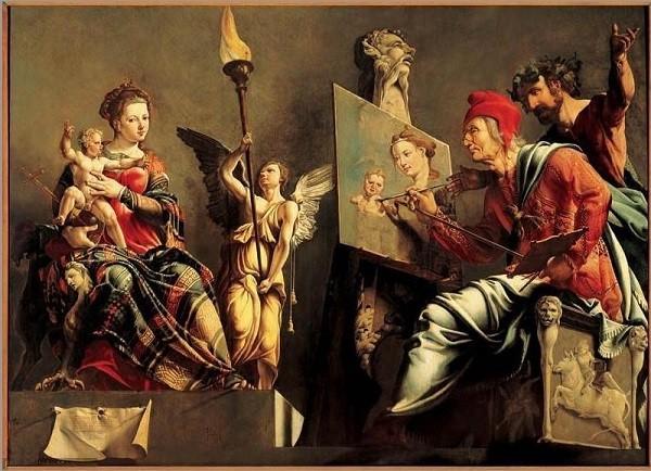 Sint-Lucas-schildert-de-Madonna-Maarten-van-Heemskerck