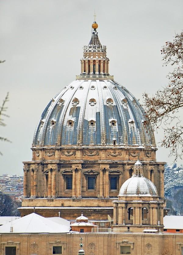 Sint-Pieter-Rome-sneeuw