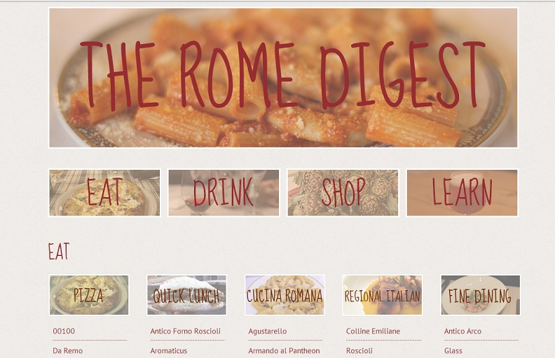 The-Rome-Digest-site