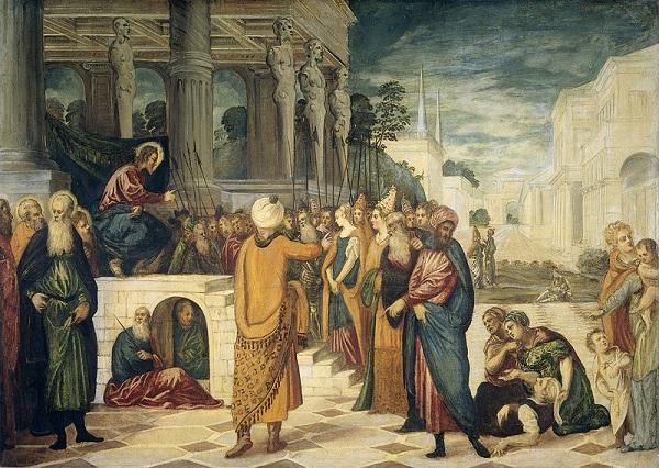 Tintoretto-Christus-en-de-overspelige-vrouw