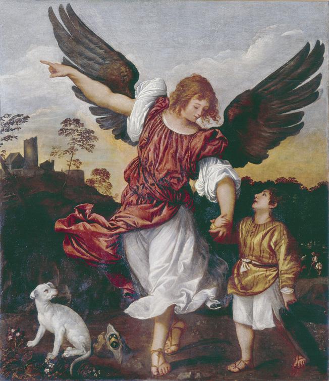 Titiaan, Tobias en de engel, Gallerie dell'Accademia, Venetië