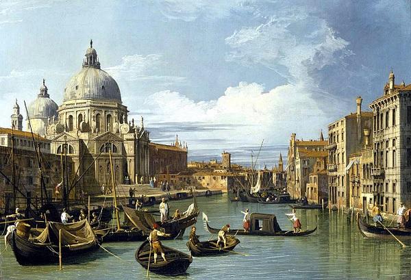 Venetië-Canaletto-kunst