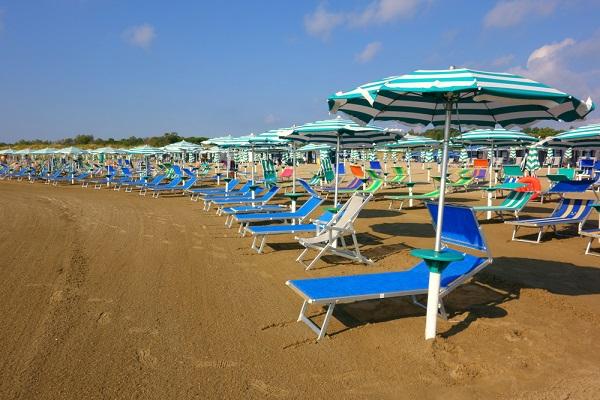 Venetië-Lido-strand