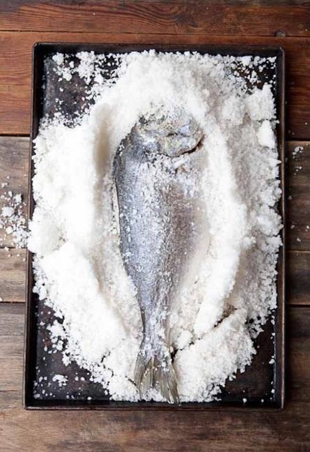 Zilveren Lepel vis zout