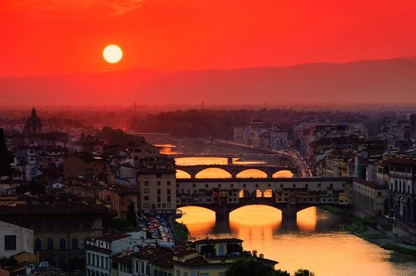 avondrood-Ponte-Vecchio-Florence