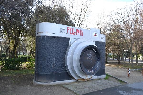 Monument to Federico Fellini in Rimini