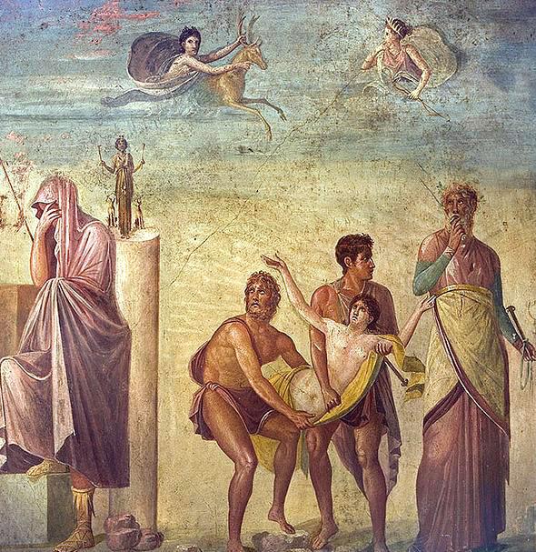 fresco Huis van de Tragediedichter