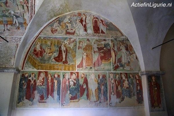 fresco-Mendatica-Ligurië