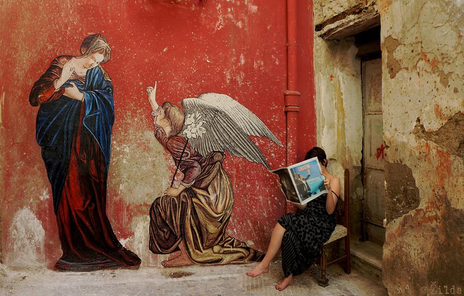 l'annunciazione zilda napoli street art-2
