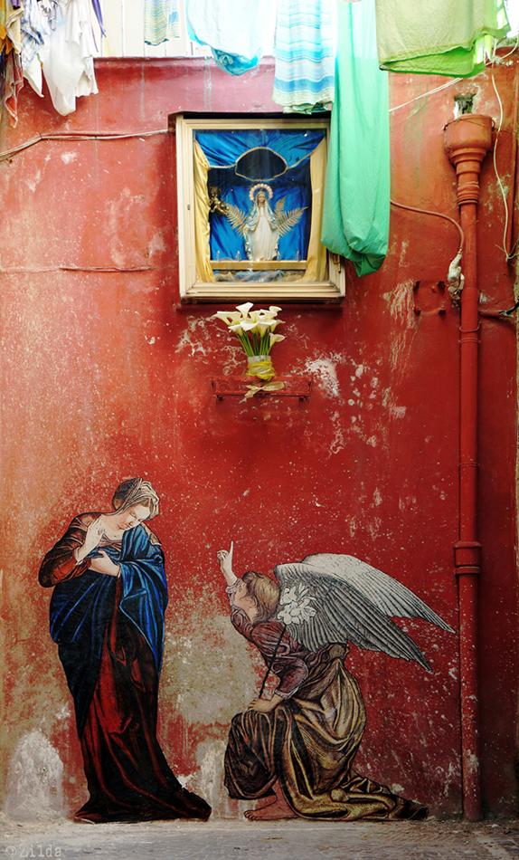 l'annunciazione zilda napoli street art