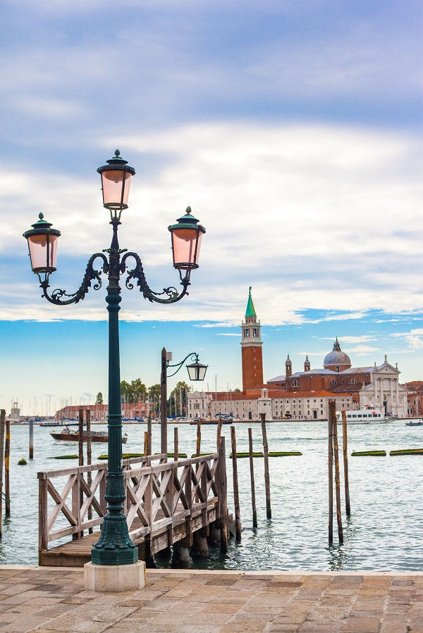 Old street lantern in Venice, Italy