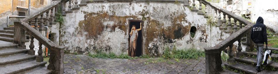 meditazione zilda street art Naples