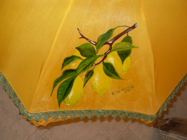 paraplu met citroenen